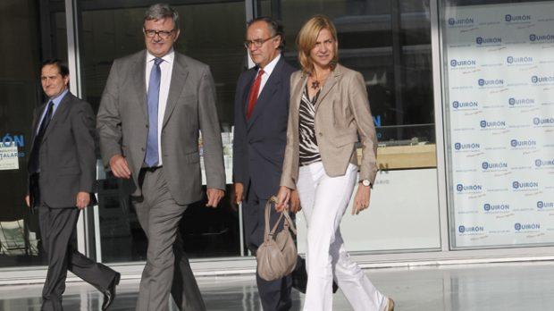 Carlos García Revenga y la infanta Cristina