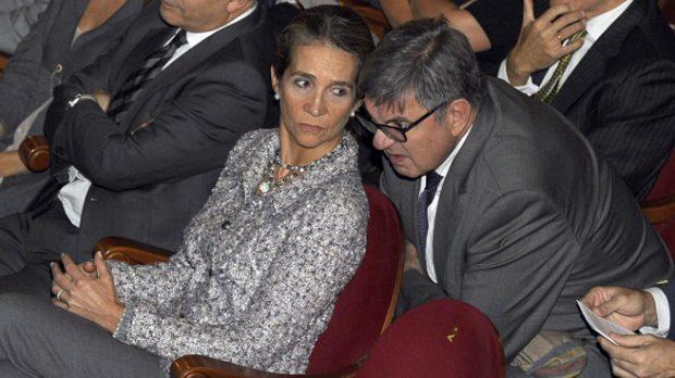 Carlos García Revenga y la infanta Elena