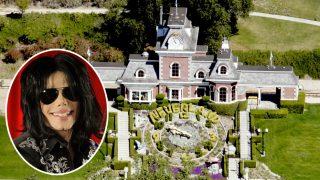 Michael Jackson y su rancho, Neverland, en un fotomontaje de Look