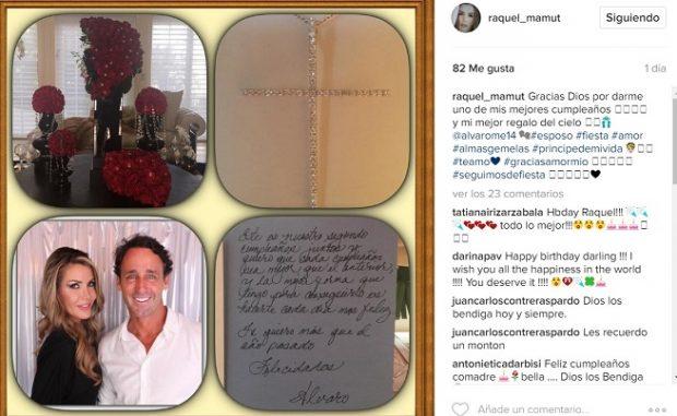 Raquel Bernal en su cuenta de Instagram