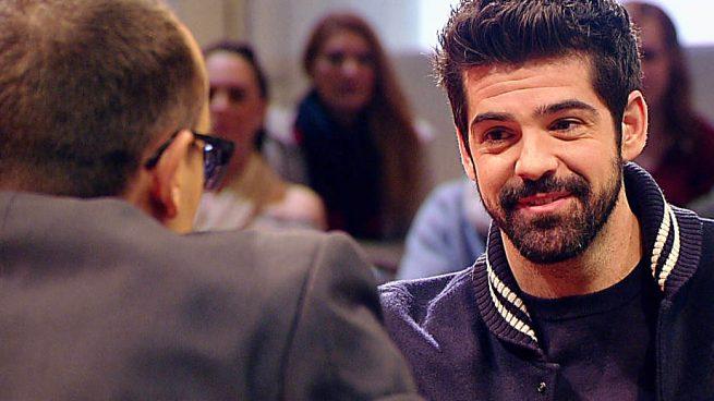 Miguel Ángel Muñoz durante su entrevista con Risto