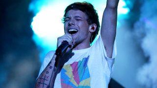 Louis Tomlinson actuando en la final de Factor X en 2016 (Gtres)