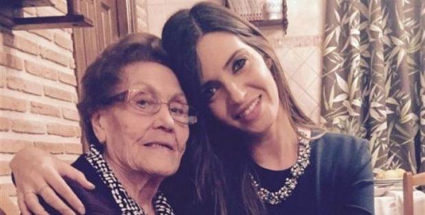 Sara Carbonero con su abuela (Instagram)