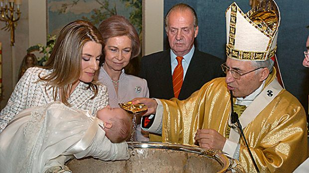 Doña Letizia durante el bautizo de la Infanta Leonor (Gtres)