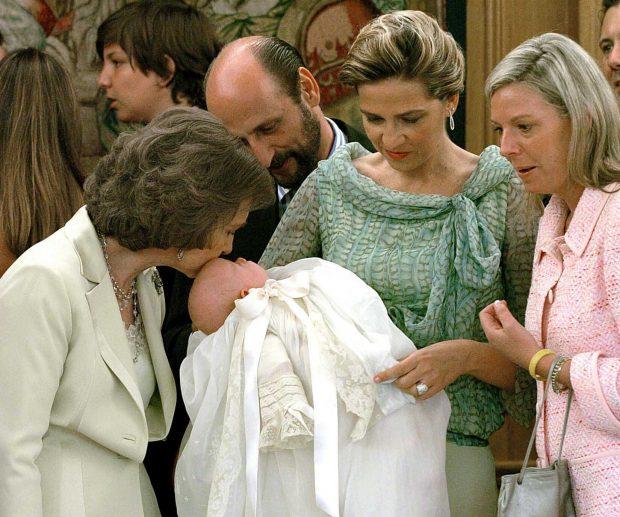 Cristina en el bautizo de Irene Urdangarin en julio de 2005 (Gtres)