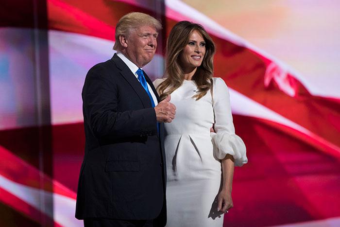 Melania Trump vestido blanco Primera Dama