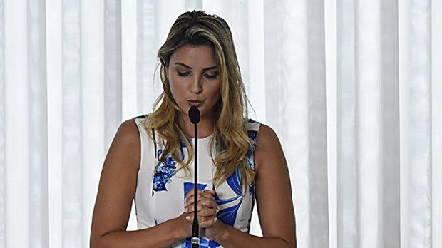 Marcela Temer durante un acto público (Gtres)