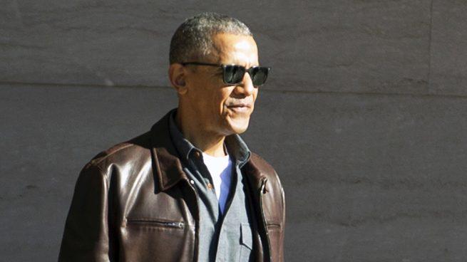 Barack Obama chaqueta cuero
