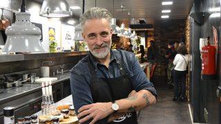 Sergi Arola durante una presentación de productos gastronómicos (Gtres)