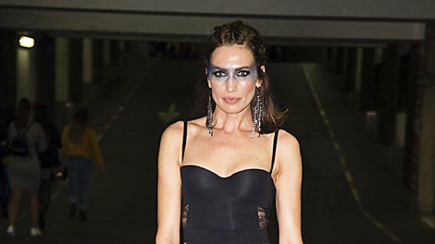 La modelo Nieves Alvarez durante el cumpleaños (Gtres)