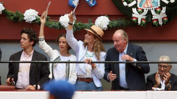 El rey Juan Carlos, la infanta Elena, Froilán