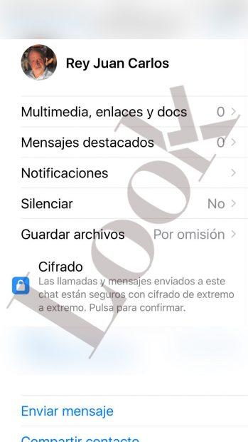 El Rey Juan Carlos ya tiene Whatsapp con foto de galán de cine