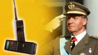 El Rey Juan Carlos y los aparatos de las escuchas en un fotomontaje de LOOK
