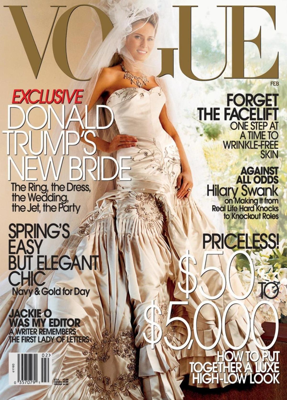 Melania Trump Vestido Novia Vogue John Galliano Dior
