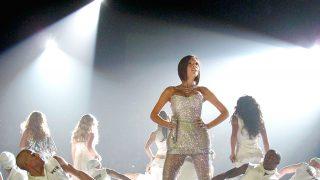 Victoria Beckham, durante un concierto con las Spice Girls / Gtres