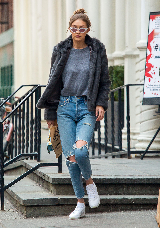 Gigi Hadid Ripped Jeans Vaqueros Rotos Primavera