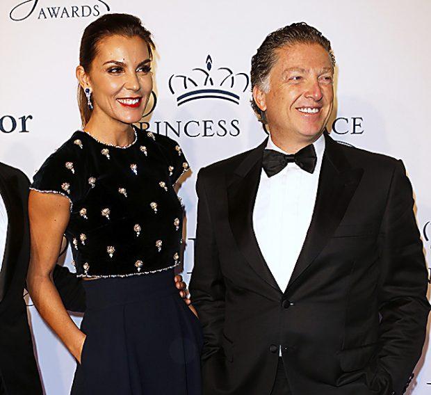 Elías Sacal y Mar Flores el primer día que posaron juntos en la Gala Princesa Grace /Gtres
