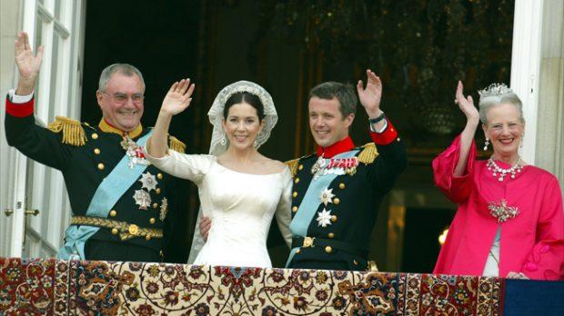 príncipe Federico y reina Margarita