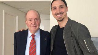 El rey Juan Carlos I y Zlatan Ibrahimovic / Instagram