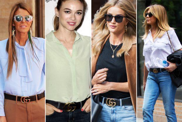 Anna Dello Russo, Marta Hazas, Rossie Huntington-Whiteley y Jennifer Aniston