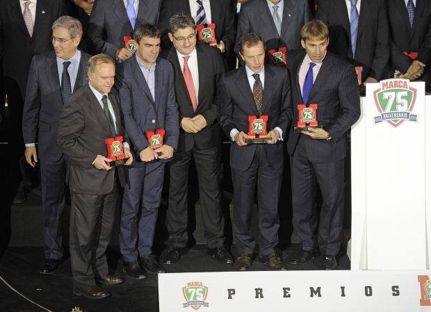 Miguel Pardeza, Manolo Sanchis, Emilio Butragueño y Rafael Martín Vázquez