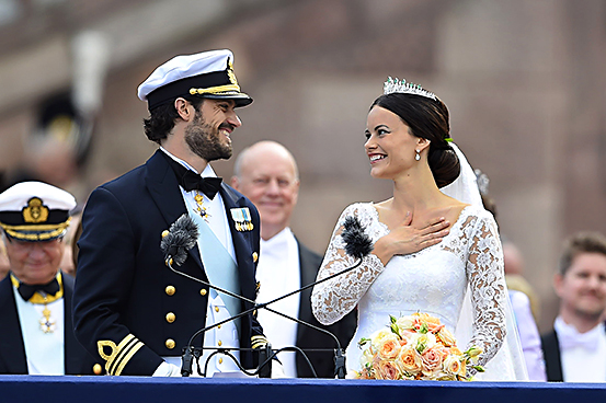 Carlos Felipe de Suecia y Sofía el día de su enlace / Gtres