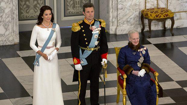 La reina Margarita, el príncipe Federico y Mary Donaldson