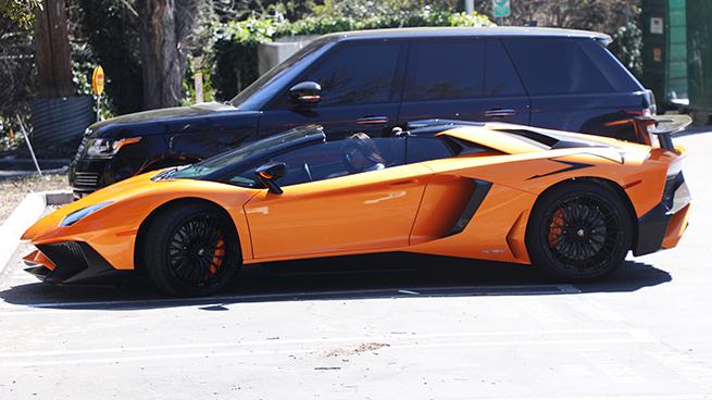 Kylie Jenner Lamborghini Aventador Roadster SV