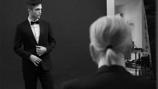 Robert Pattinson y Karl Lagerfeld / Dior Homme