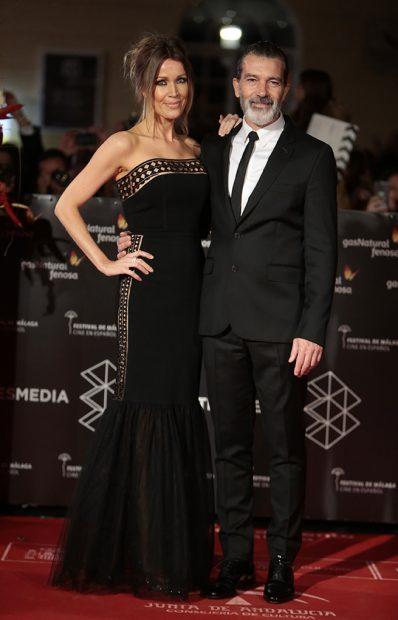 Antonio Banderas y Nicole Kimpel en la alfombra roja del Festival de Cine de Málaga / Gtres