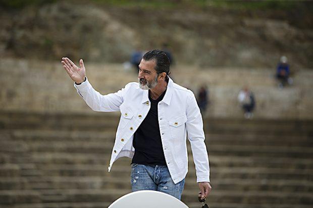 El actor Antonio Banderas durante la rueda de prensa /Gtres