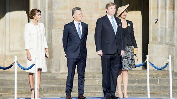 Mauricio Macri, Juliana Awada, Guillermo de Holanda y Máxima de Holanda