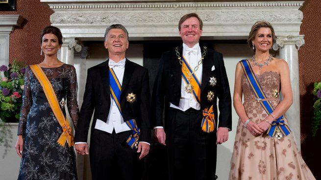 Juliana Awada, Mauricio Macri y los reyes Guillermo y Máxima de Holanda