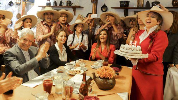 Vargas Llosa e Isabel Presyler