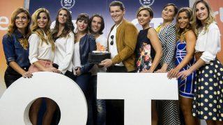 Algunos de los exconcursantes de 'Operación Triunfo' durante la presentación del programa 'OT. El reencuentro' / Gtres