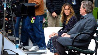 Sarah Jessica Parker durante el rodaje de la segunda temporada de 'Divorce' / Gtres