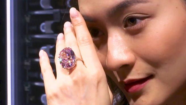 Estrella rosa diamante