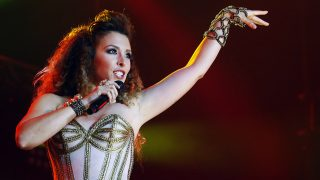 La cantante Gisela durante el concierto «OT El Reencuentro» en Barcelona / GTRES