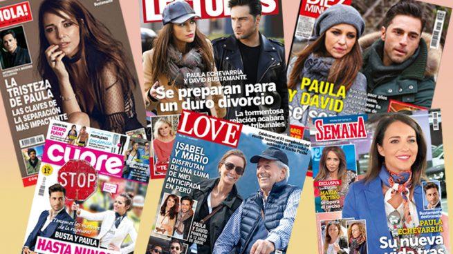 Paula Echevarría y David Bustamante, protagonistas indiscutibles de las revistas
