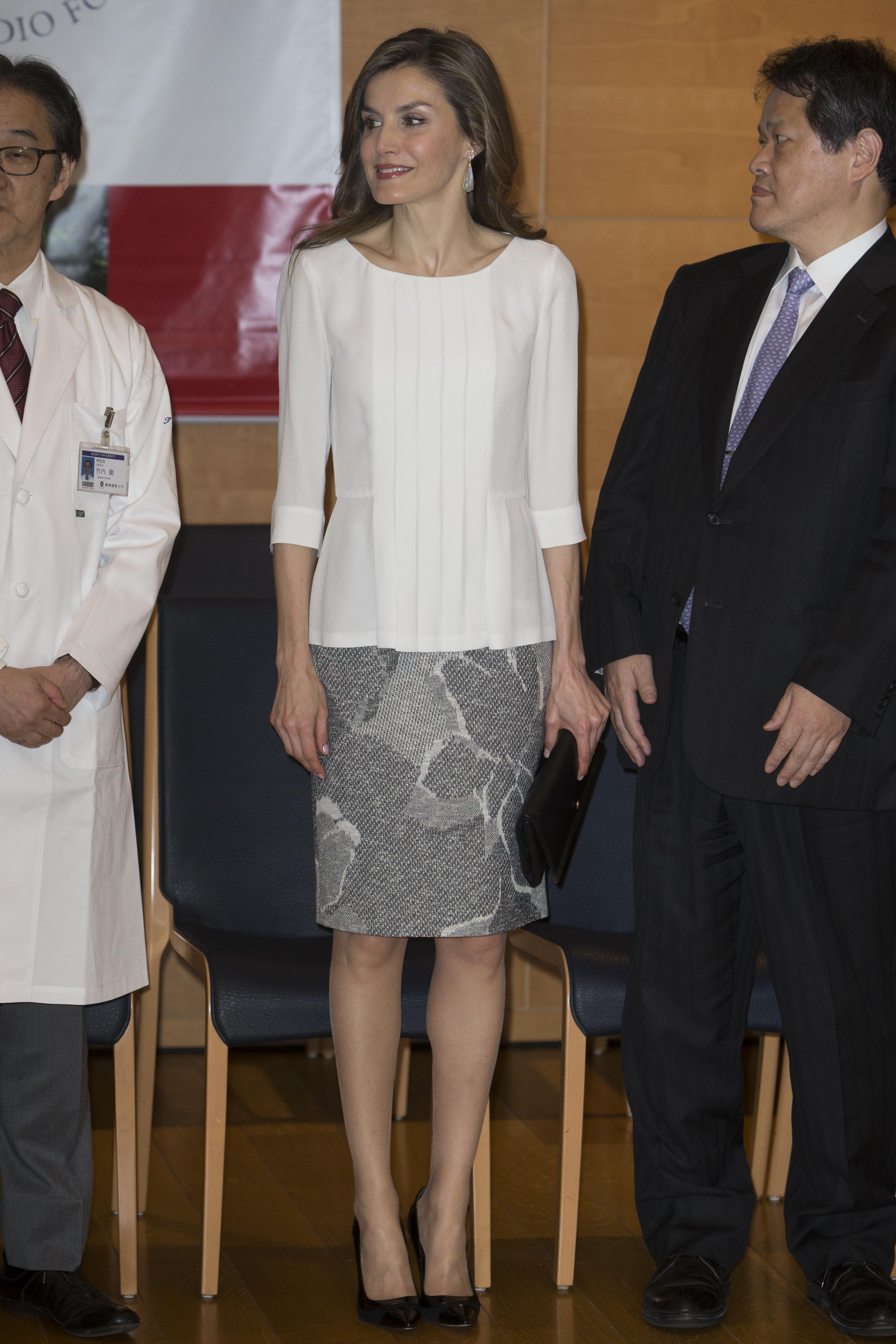 Reina Letizia Look Pendientes Tous Viaje Japón