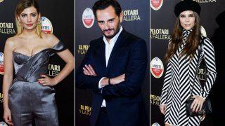 Miriam Giovanelli, Asier Etxeandía y Juana Acosta en la premiere de 'El pelotari y la fallera' / Gtres