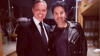 El cantante Luis Miguel junto a su estilista/ Instagram