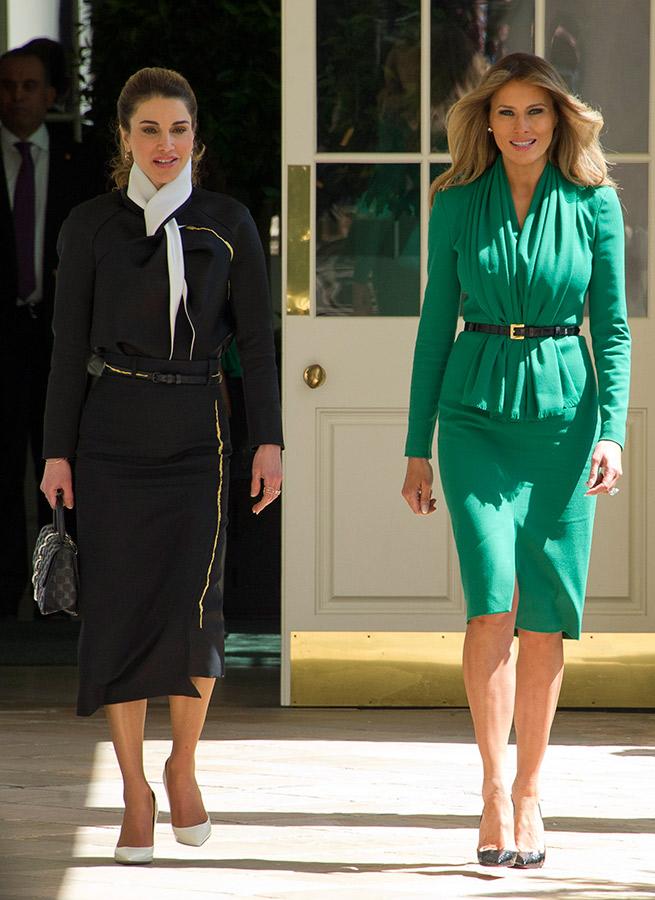 Melania Trump vence a la reina Rania gracias al color de moda