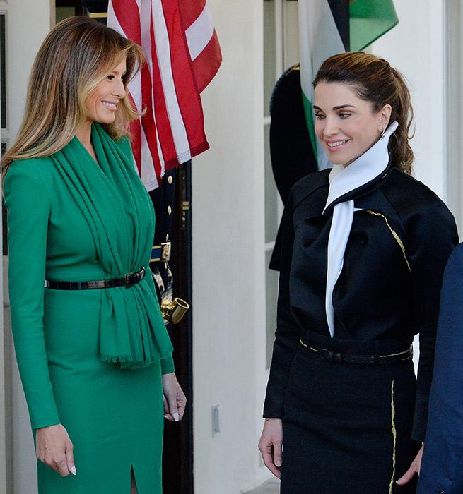Melania Trump Rania de Jordania