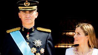 Felipe VI y Letizia durante el acto de proclamación como Rey de España / Gtres