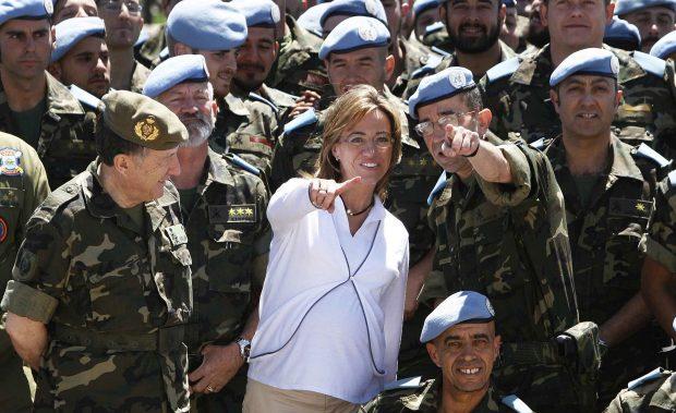 Carme Chacón durante su visita a Afganistán /Gtres