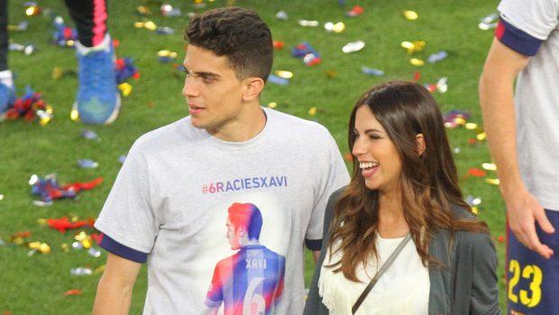 Marc Bartra y Melissa Jiménez en una imagen archivo (Gtres)