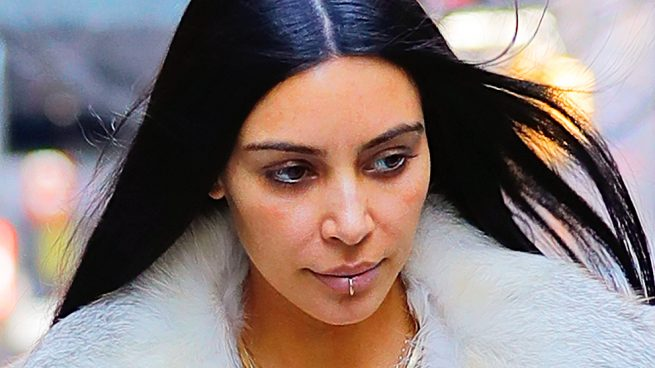 Kim Kardashian piercing