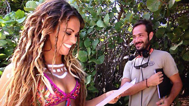 Lara Álvarez y Carles Cabré durante su estancia en la isla /Telecinco