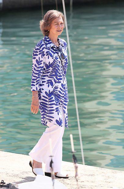 La Reina Sofía durante unas vacaciones en Mallorca /Gtres